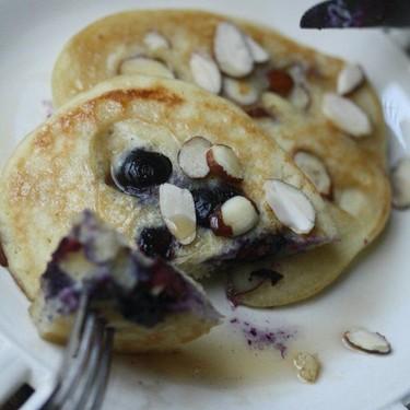 Gluten-Free Blueberry-Almond Pancakes Recipe | SideChef