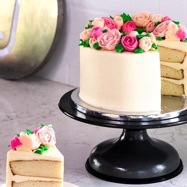 Vanilla Cake with Vanilla Buttercream Recipe   SideChef