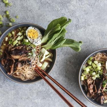 Gluten Free Miso Mushroom Ramen with Bok Choy Recipe | SideChef