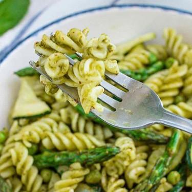 Garden Green Pesto Fusilli Pasta Recipe | SideChef