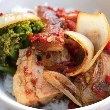 Pork Belly and Broccoli in Hoisin Chili Sauce Recipe   SideChef