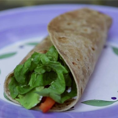 Hummus & Goat Cheese Wrap Recipe | SideChef