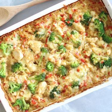 Mustard Chicken Quinoa Red Pepper Casserole Recipe   SideChef