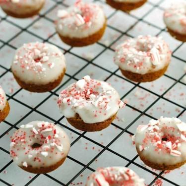 Mini Gingerbread Donuts with Peppermint Glaze Recipe | SideChef