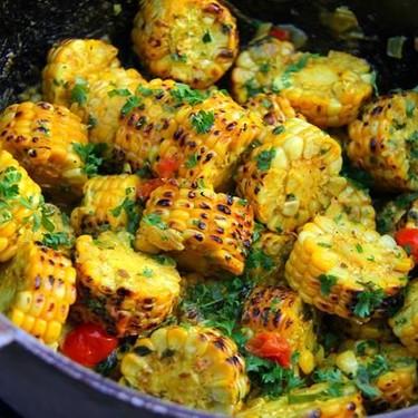 Grilled Curry Corn Recipe   SideChef