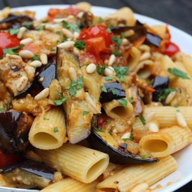 Sicilian Tomato and Eggplant Rigatoni Recipe   SideChef