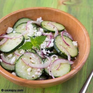 Cucumber Feta Salad Recipe | SideChef