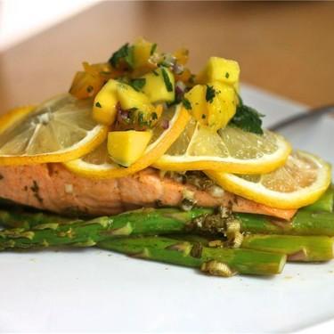 Citrus Cilantro Salmon En Papillote with Mango Salsa Recipe   SideChef