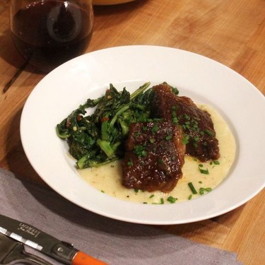 Barbecue Braised Short Ribs with Cauliflower Grits Recipe | SideChef