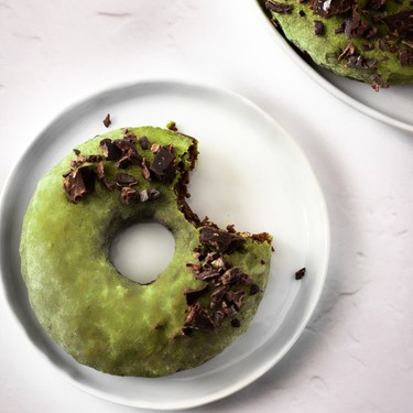 Chocolate Matcha Almond Flour Donuts Recipe | SideChef
