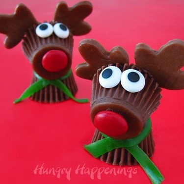 Reese's Cup Rudolph the Red Nose Reindeer Treats Recipe   SideChef