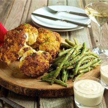 Roasted Cauliflower with Parmesan Green Beans Recipe | SideChef