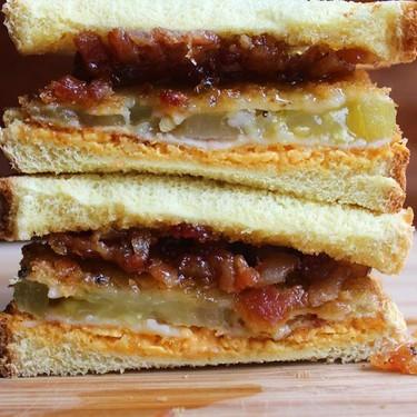 Fried Green Tomato Sandwich with Bacon Jam Recipe | SideChef