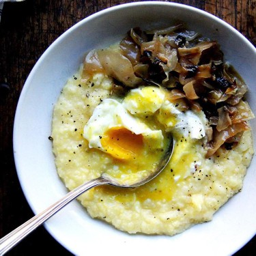 Oven-Roasted Polenta with Poached Eggs Recipe   SideChef