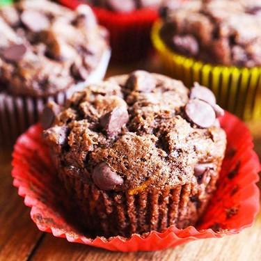 Double Chocolate Zucchini Muffins Recipe   SideChef