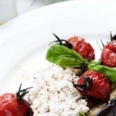 Charred Eggplants with Vegan Ricotta Cheese Recipe | SideChef