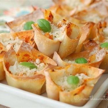 Chicken Parmesan Wonton Cups Recipe   SideChef
