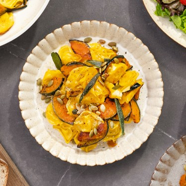 Tortellini with Brown Butter and Kabocha Squash Recipe | SideChef