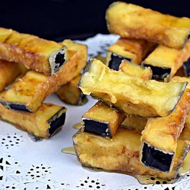 Crispy Eggplant Sticks with Honey Recipe | SideChef