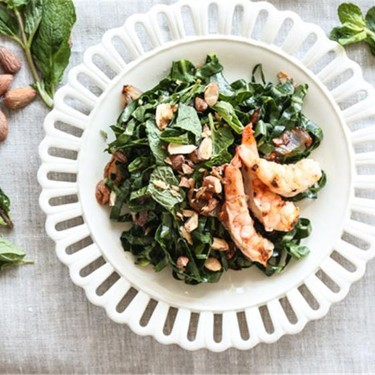 Vietnamese Shrimp and Collard Green Salad Recipe   SideChef