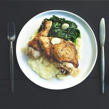 Roasted Chicken with Natural Garlic Jus Recipe | SideChef