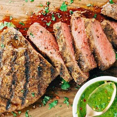 Grilled Flat Iron Steak with Chimichurri Sauce Recipe | SideChef