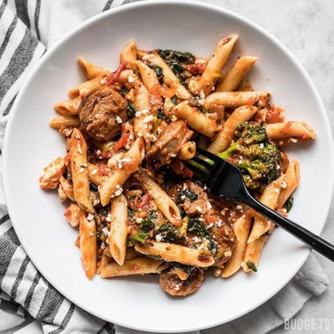 Penne Pasta with Sausage and Greens Recipe | SideChef