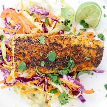 Pan Seared Mahi Mahi with Honey Lime Coleslaw Recipe | SideChef