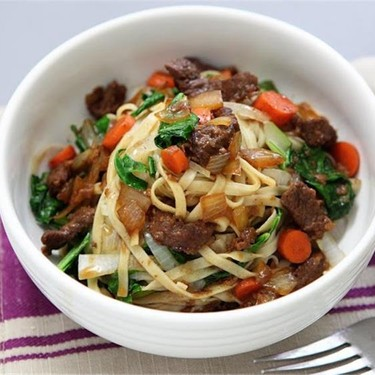 Red Cooked Beef, Choy Sum, and Long Noodles Recipe | SideChef