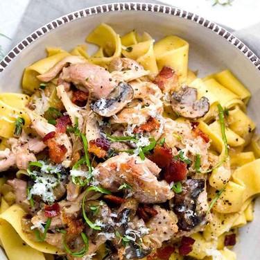 Chicken Ragu Sauce with Pappardelle Pasta Recipe | SideChef