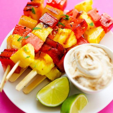 Watermelon and Pineapple Grilled Fruit Skewers Recipe | SideChef