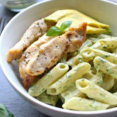 Chicken Pasta with Herby Avocado Pesto Sauce Recipe   SideChef