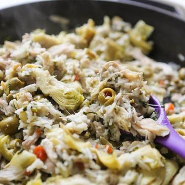Artichoke Chicken Rice Skillet Recipe   SideChef