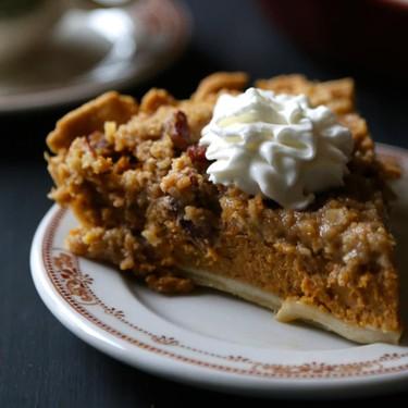 Bourbon Pumpkin Pie with Cinnamon Pecan Streusel Recipe | SideChef