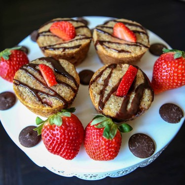 Delicious & Healthy Strawberry Chocolate Muffins Recipe | SideChef