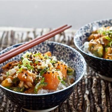 Spicy Salmon Poke and Coconut Rice Recipe   SideChef