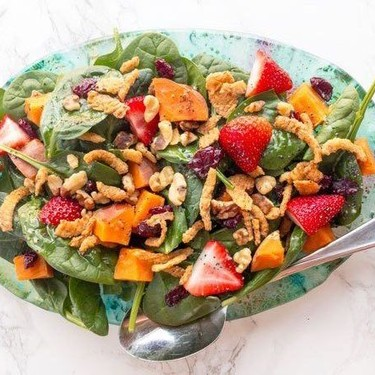 Spinach Salad with Strawberry and Sweet Potato Recipe   SideChef