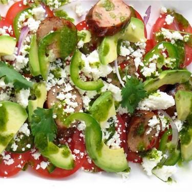 Spicy Sausage, Tomato, and Avocado Salad Recipe   SideChef
