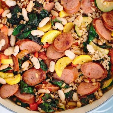 Italian White Bean Vegetable Stew with Sausage Recipe   SideChef