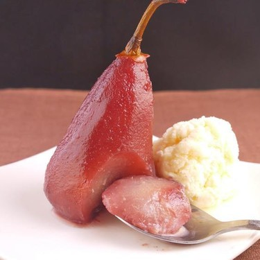 Easy Simple Red Wine Poached Pear Recipe   SideChef
