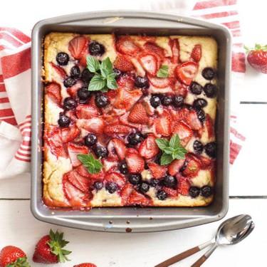 Summer Berry Cobbler Cake Recipe   SideChef