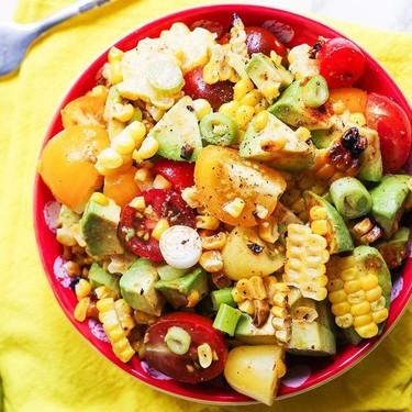 Grilled Corn and Tomato Salad Recipe | SideChef