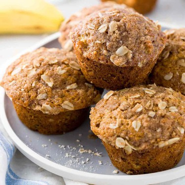 Healthy Banana Muffins with Oats Recipe | SideChef