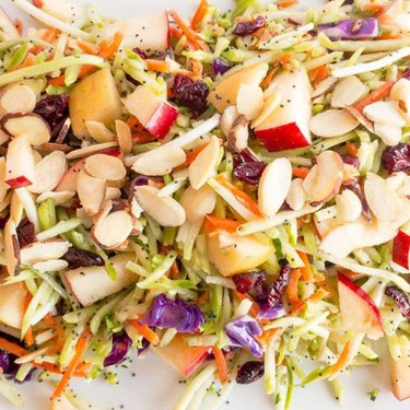 Vegan Apple Almond Broccoli Slaw Recipe   SideChef
