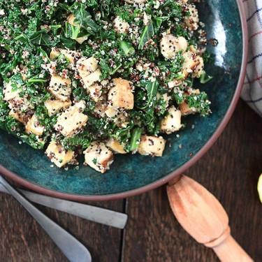 Kale, Tofu, Mushroom, and Quinoa Bowl Recipe | SideChef