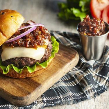 Bacon Jam Mozza Burger Recipe   SideChef