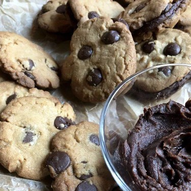 Peanut Butter & Chocolate Chip Sandwich Cookies Recipe   SideChef