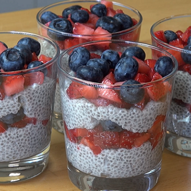 Chia Seed Mixed Berry Puddings Recipe | SideChef