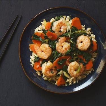 Garlic Shrimp and Kale Stir-Fry Recipe | SideChef