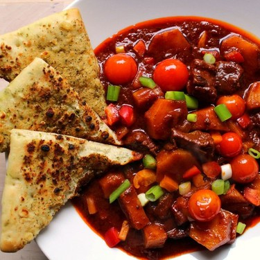 Beef Stew with Potatoes, Peppers and Tomatoes Recipe   SideChef